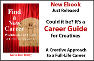 Ad for New Ebook. Find a New Career a Creative Approach. Career guide and workbook.